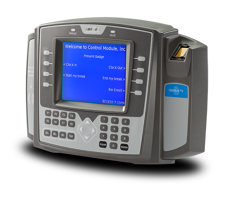 Employee Identification and Fingerprint Time Clock Options, Each Configured for Easy Integration